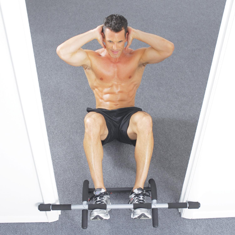Iron Gym Original Klimmzugstange für Tür zum Einhängen ohne Bohren